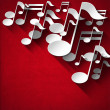 Music Note Background - Red Velvet — Stockfoto