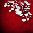 Music Note Background - Red Velvet Roses — Foto de Stock