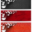 Stock Photo: Three Musical Banners - N2