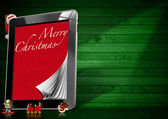 Merry Christmas - Tablet Computer — Photo