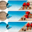 Three Sea Holiday Banners - N4 — Stock fotografie