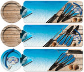Spearfishing Three Banners - N2 — Foto de Stock