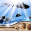 Holiday Sea Abyss Background — Stock Photo