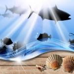 Постер, плакат: Holiday Sea Abyss Background
