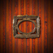 Vintage Frame on Wooden Wall — Photo