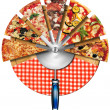 Stock Photo: Pizza on the Cutting Board