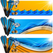Three Sea Holiday Banners - N8 — Stock Photo