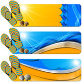 Three Sea Holiday Banners - N7 — Stockfoto