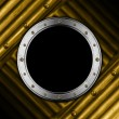 Metal Porthole on Grunge Background — Stock Photo
