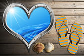 I Love Sea Holidays — Foto de Stock