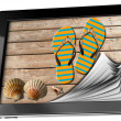 Sea Holiday in Tablet Computer with Pages — Stock Photo