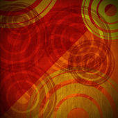 Grunge Circles Background - Warm Colors — Stock Photo
