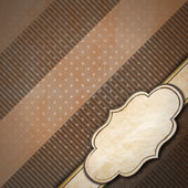 Brown Vintage Background with Label — Stock Photo
