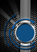 Blue and Metal Abstract Background — Stock Photo