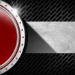 Stock Photo: Red and Metal Abstract Background