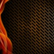 Stock Photo: Orange Red and Metal Background with Grid