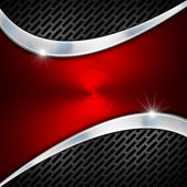 Red and Metal Business Background — Stock Photo