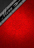 Menu Template - Silver and Red Velvet — Stock Photo