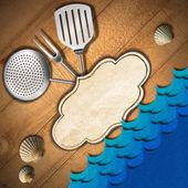Mořské plody - menu šablony — Stock fotografie