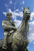 Statue of Giuseppe Garibaldi - Genova Italy — Stock Photo