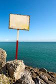 Signer sur le fond de la mer — Photo