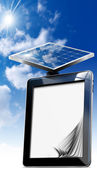 Tablet Computer with Solar Panel — Foto de Stock