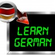 Learn German - Metal Billboard — Stock Photo #46664301