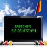 Sprechen Sie Deutsch? - Laptop Computer — Stock Photo #46664553