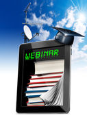 Webinar - Tablet Computer - Web-based Seminar — Stock Photo