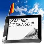 Sprechen Sie Deutsch? - Tablet Computer — Stock Photo #46682749