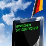 Sprechen Sie Deutsch? - Tablet Computer — Stock Photo