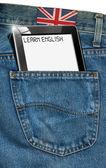 Tablette pc - anglais dans le monde — Photo