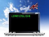 Learn English Laptop Computer — Stock Photo