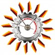 Time to Learn German - Metallic Gear — Stock Photo #46725309