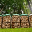 Pile of Chopped Firewood in the Woods — Stock Photo #46839091