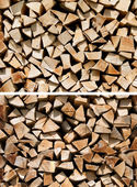 Pile of Chopped Firewood — Stock Photo