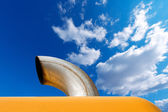 Exhaust Pipe on Blue Sky — Stock Photo