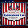 Vintage Fourth of July Independence Day — Stock Photo #47044827