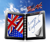 Learn English - Tablet Computer — Stock Photo