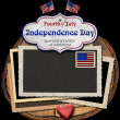 Vintage Fourth of July Independence Day — Stock Photo #47104561