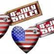4th of July - Sale — Stock Photo #47217733