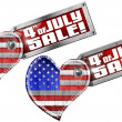 4th of July - Sale — Stock Photo #47217793