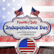Vintage Fourth of July Independence Day — Stock Photo #47218297