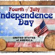 Vintage Fourth of July Independence Day — Stock Photo #47218339
