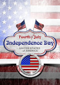 Vintage Fourth of July Independence Day — Stock Photo