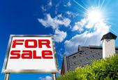 House For sale - Big Chrome Billboard — Stock Photo