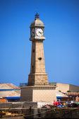 Clock Tower - Barcelona Spain — 图库照片