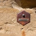 Old Doorbell on Wall - Tuscany Italy — Stock Photo #50907383