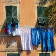 Clothes hanging in Lerici - Liguria - Italy — Stock Photo #50999503