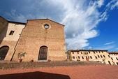 St. Agostino Church - San Gimignano Italy — Stock Photo